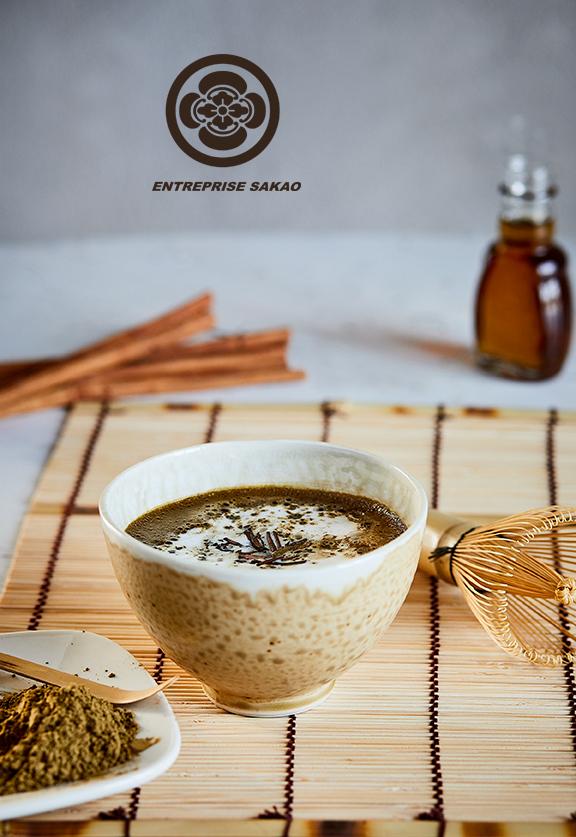 Hojicha latté chaud / Hot Hojicha latté