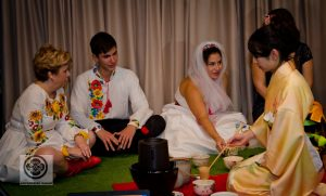 Tea ceremony at wedding