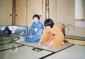 cérémonie du thé avec grand-mère
