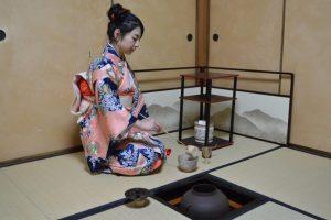 cérémonie du thé avec foyer Ro