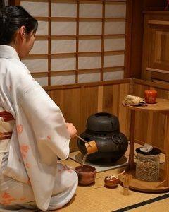 Cérémonie du thé foyer Furo / crédit photo: miwa